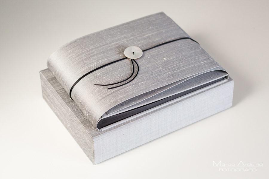 album matrimonio artigianali in shantung di seta