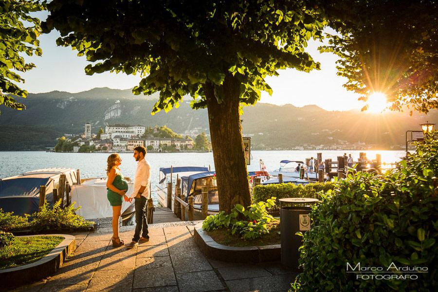 fotografo gravidanza lago orta Maggiore novara