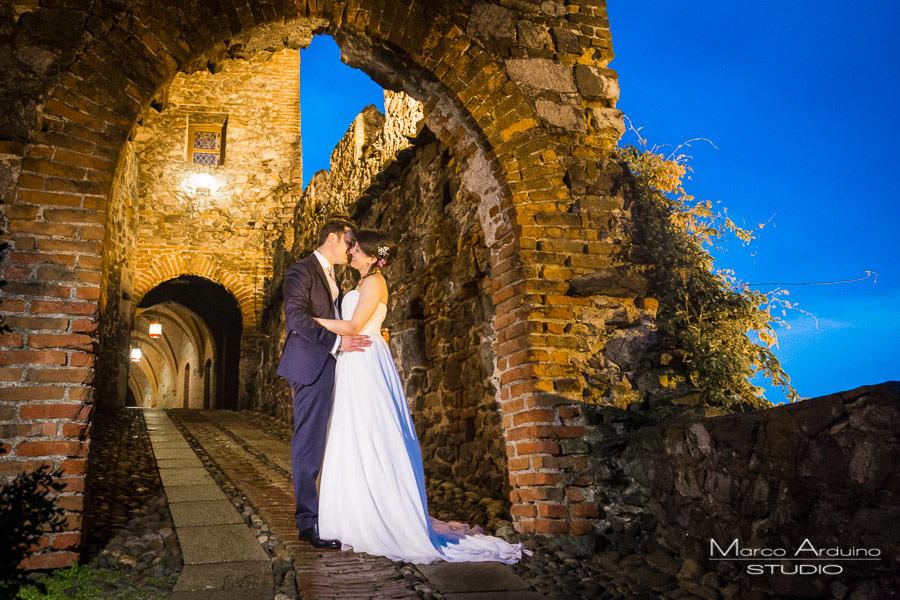 foto sposi notte castello pavone canavese ivrea torino