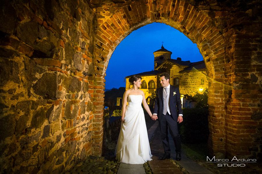 foto sposi di notte castello pavone canavese ivrea torino