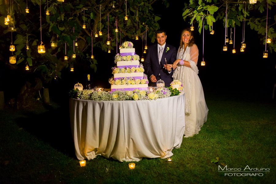 romantico taglio torta presso tenuta castello golf club cerrione biella