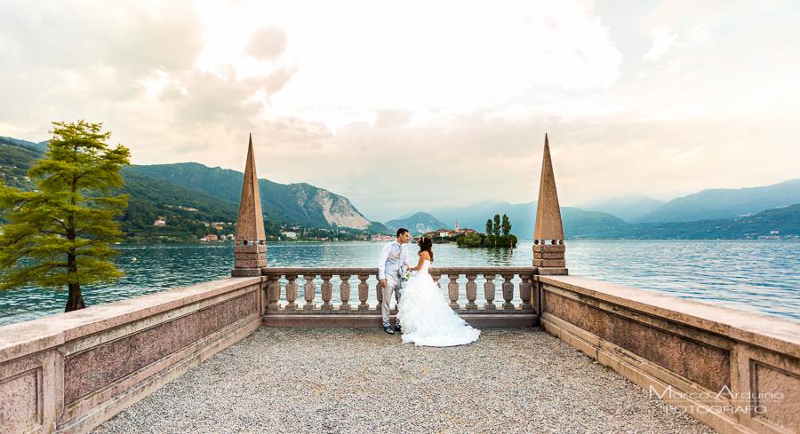 fotografo matrimonio isola Bella e Pescatori lago Maggiore