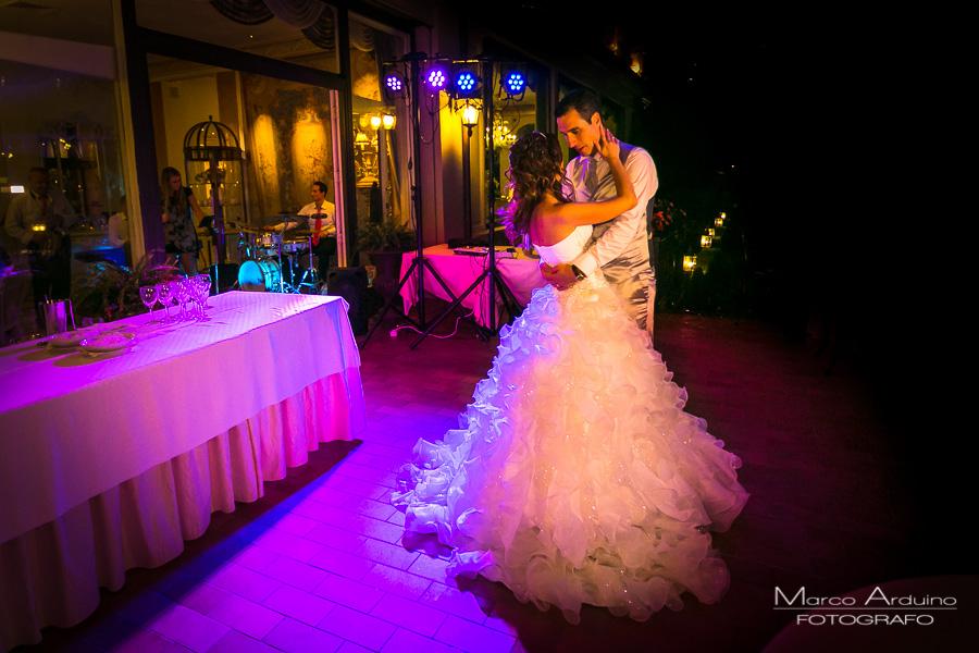 primo ballo deggli sposi a Villa Aminta Stresa