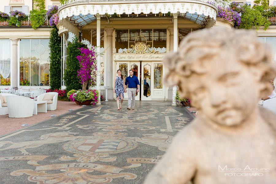 Grand Hotel des Iles Borromees engagement session Stresa lago Maggiore