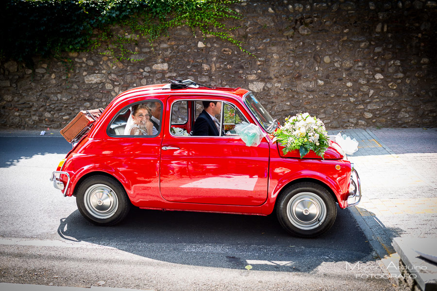 fiat 500 matrimonio abbazia santo spirito Marco Arduino Fotografo