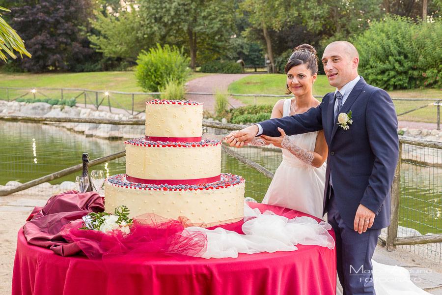 taglio torta parco le cicogne novara servizio fotografico matrimonio