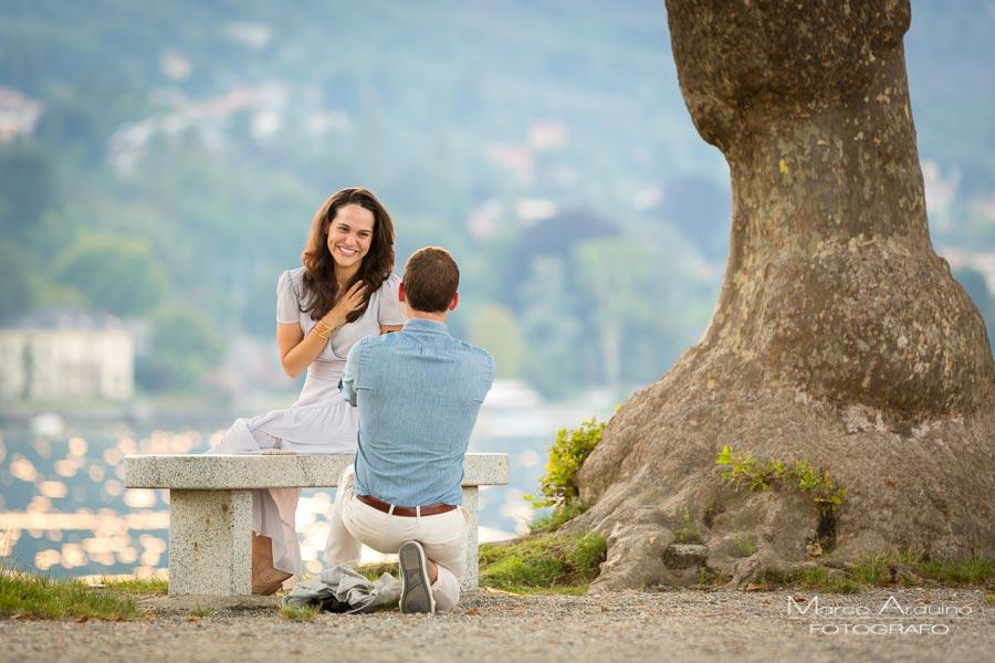 proposta di matrimonio sul lago Maggiore